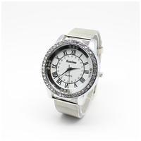 New Full Steel Geneva Watch for Women Dress watches Analog Rose Gold Watch for Man Ladies Unisex Quartz Watch Reloj Relogio