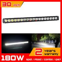 30inch 180W LED Light Bar for 12v 24v SUV Tractor ATV Offroad Fog light Spot/Flood/Combo LED Worklight Save on 240W 260w
