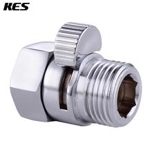 KES Shower Pressue Valve Solid Brass Water Control Valve Shut Off Valve for Bidet Sprayer or Shower Head, Polished Chrome(China (Mainland))