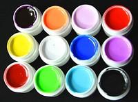 12 pcs Colors Pure Colour uv gel, Uv gel Set, Builder Gel for nail art FREE SHIPPING