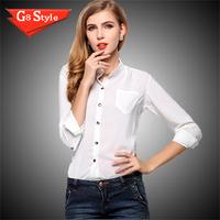 2015 spring and summer women's casual bag explosion models big yards sunscreen shirt collar loose long-sleeved chiffon shirt