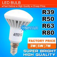 R50 LED lamp E14 Base 3W 5W 7W 220V 230V 240V Warm white Cold white free shipping