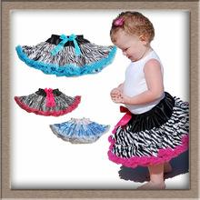 (7 Colors ) Baby saia infantil,Girls Zebra Tutu Pettiskirts,skirts for girls,kids gown designs ruffle saia tutu infantil  03(China (Mainland))