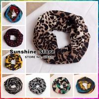 Fashion Leopard/Zebra Baby Cowl winter Scarf children scarves Kids Scarf knitted floral scarf Neck Gaiter #WB019 12 pcs/lot