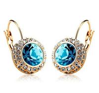 2015 New Fashion Austrian Crystal Earrings Kate Middleton Same Style Factory Price Fashion Jewelry 60080E012