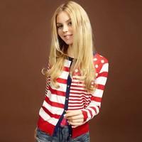 New 2014 women fashion Crochet Knit Top Thin Blouse Summer Cardigan Sweater Coat  SV19 CB029179
