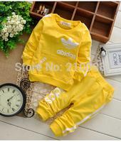 2014 retail boys/girls Sport suit set long sleeve Pure cotton children tracksuit sets 2 pcs/set outerwear clothing