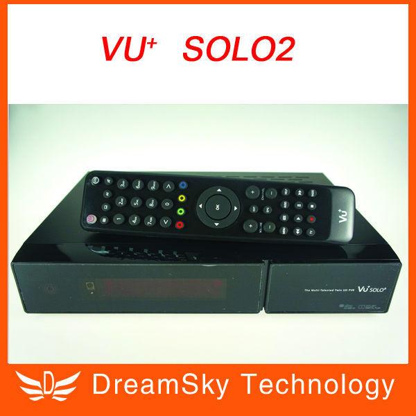2pcs Vu+ Solo2 Twin Tuner Decoder vu solo 2 Linux Reciever 1300 MHz CPU DVB-S2 Tuner Digital HD Satellite Receiver,free shipping(China (Mainland))