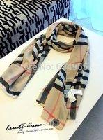 SALE Supernova Sale Luxury  Plaid Silk Fall Scarves For Women Cotton brand Female Chiffon shawl gril Super Scarf