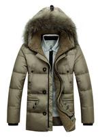 2014 Winter Men's Brand down jacket men long sleeve down jacket Down Parkas, M,XL,XXL,XXXL,free shipping