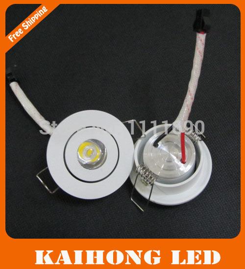 free shipping round ceiling spot light Mini 1W 3W downlights led 110V/220V Mini led lamp white or warm white Household lights(China (Mainland))