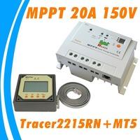 EPsolar Tracer MPPT 20A Solar Charge Controller 12V 24V solar panel battery regulator Tracer2215RN 150V max input voltage 2215RN
