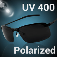 Free Shipping! 2014 Male Aluminum Magnesium Alloy Driving Mirror Glasses Dimming Night Vision Polarized Sunglasses 120-0043