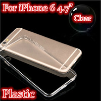 """Slim Case Cover For iPhone 6 4.7"""" inch Ultra Thin Plastic Hard Case for iphone 6 Transparent Clear Back Cover"""