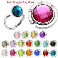 18 Colors Crystal Alloy Purse Bag Handbag Hanger Folding Colorful Portable Hook Holder Hot
