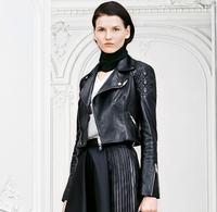 2014 Women's Genuine Leather Sheepskin Jackets Winter Autumn New  Brand Short Slim coat designer brand OM-77 Free Shipping