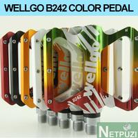 Wellgo b242 ultra-light aluminum alloy bicycle CNC Aluminum/alloy road bike foot pedal mountain bike bmx pedal