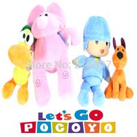 4pcs/lot Full Set POCOYO Cartoon Stuffed Animals & Plush Toys Hobbies Loula & Elly & Pato & POCOYO plush toy