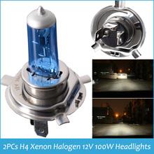 H4 XENON HALOGEN BULB 12V 100W Headlights Super White 9003 H4 6000K Xenon Car HeadLight Bulb Halogen Light Dropshipping(China (Mainland))