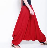 2014 Fashion women's plus size cross pants,novelty dancing yoga sport pants,bloomers,Long pantskirt, plus size Harem trousers