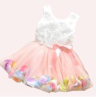Hot! Retail 1pcs/lot girls dresses summer 2014 princess dress white baby dress lace cute dress 3colors #ZFC111