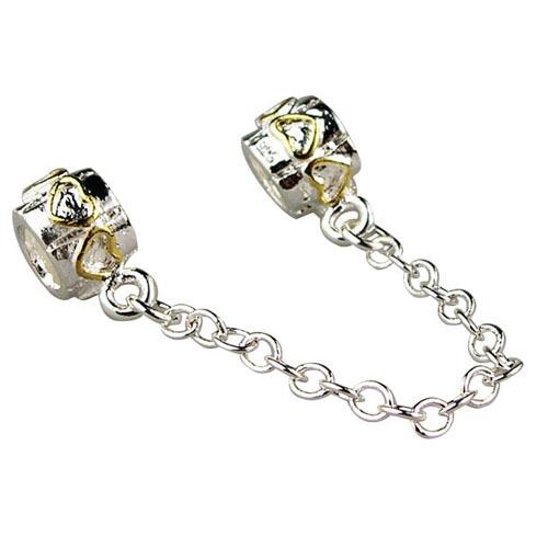 Free Shipping 925 Silver Bead Safety Chain Bead Charm European Bead Fit Pandora Bracelets & Bangles H551(China (Mainland))