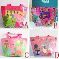 Water Proof Peppa Pig Cartoon Bag Mochila Beach Bags Kids Swimming Bags Handbags Shoulder Bag Children's Birthday Gift