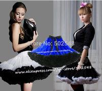 Retail Teen Adult Girls Pettiskirt Womens 2 Color Patchwork Mini Party TuTu Skirts Sexier Short Skirt Free Shipping 1 PCS