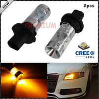2pcs/lot Error Free 20W CREE PH24WY 12272 LED Bulbs For Audi Cadillac GMC Porsche, etc For Front Turn Signal Lights