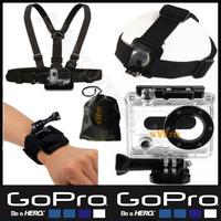 Sj5000 Sj4000 Gopro Accessories Head Belt+Chest Belt+Wrist Strap+Bag+Camera Waterproof Protective Housing Case For Hero 3