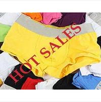 Hot Sale!New Arrival Modal Men's Underwear Solid Color 11 Colors High Quality Mens Boxers 4 Size M L XL XXL 3 Pcs /Lot
