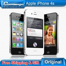 Original Unlocked Apple iPhone 5S phone 16GB / 32GB ROM White Black iOS GPS WiFi GPRS Free Gift Free shipping 1 year warranty