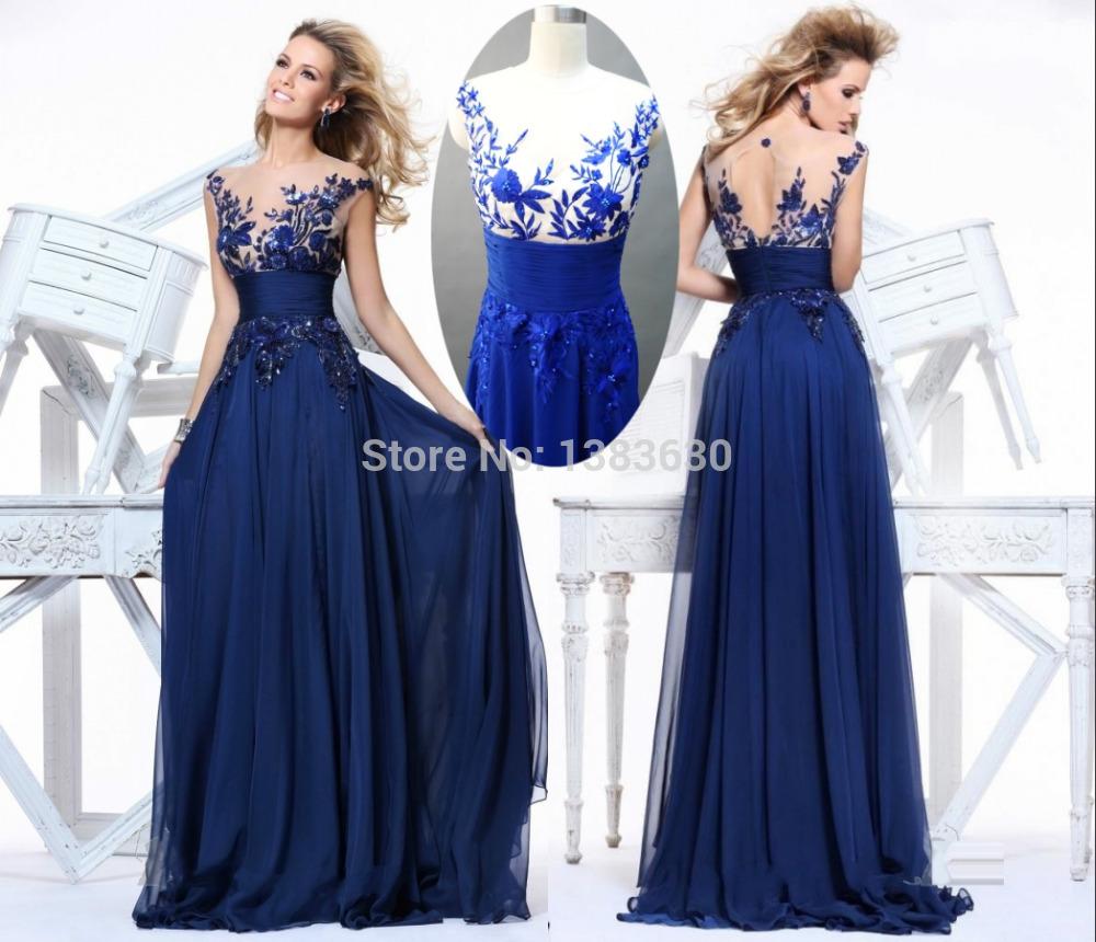 Cheap Zuhair Murad prom dresses 2015 Custom Made Long Royal Blue vestidos para festa Under50 parfumes women free shipping(China (Mainland))