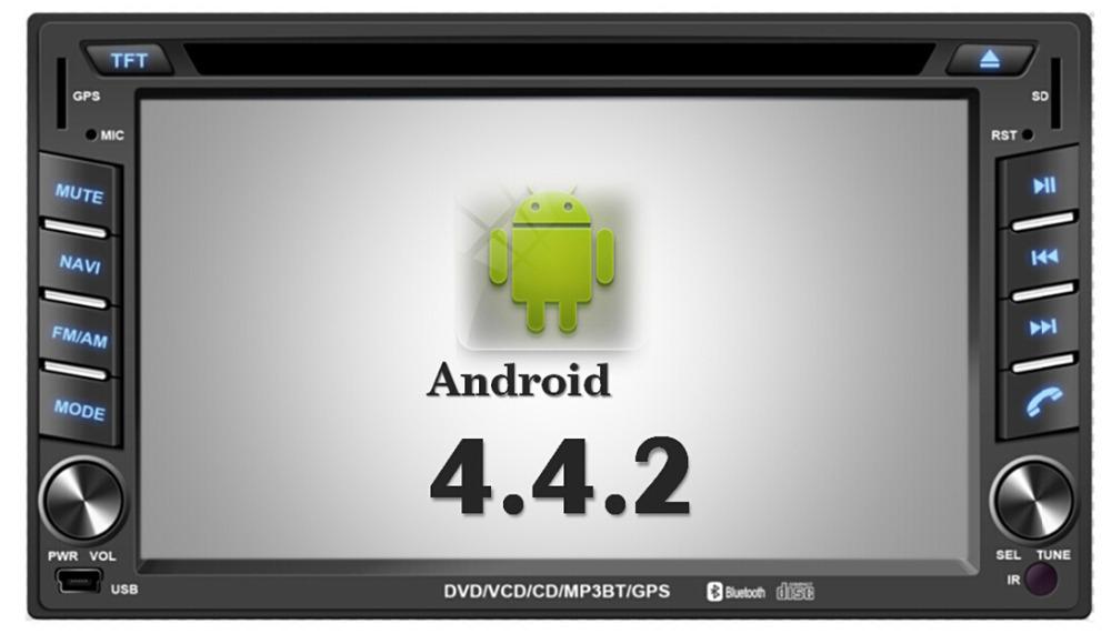 Free Shipping +Pure Android 4.4 Car DVD GPS Navigation 2DIN Car Stereo Radio Car GPS Bluetooth USB/SD Universal+Waze+OBD2+RDS(China