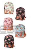 2014NEW# Vintage Women Girl Canvas Flower Floral Bag Schoolbag Bookbag Travel Backpack