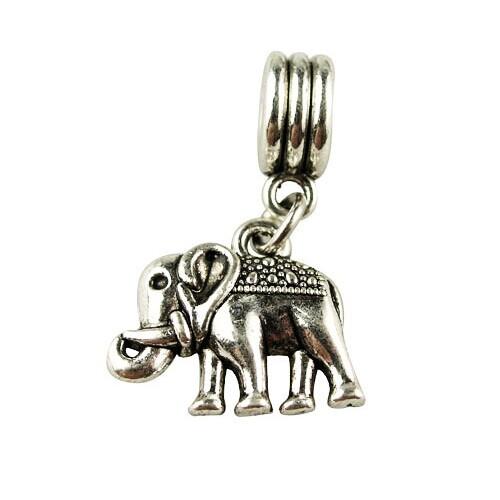 Free Shipping Women Jewelry 925 Silver Bead Charm Silver Elephant Pendent Bead Fit Pandora Bracelets & Bangles H1003(China (Mainland))