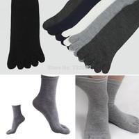 Free Shipping 5 Pairs Comfortable Warm Hot Fashion Men Unisex Five Fingers Separate Toe Socks E5698