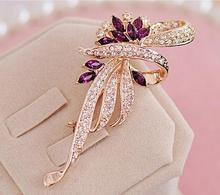 High praise of love South Korea han edition female diamond crystal brooch brooches restoring ancient ways B10 TT402