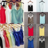 Fashion 2014 Summer Lace Hollow Out White Tank Tops Women Bluouses Renda Blusas Femininas