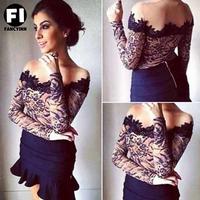 New arrival Women lace and Leopard print sexy blouse body com tulle body com guipir e tule illusion blusas