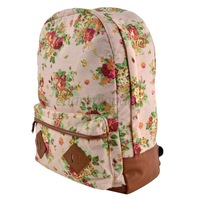 Wholesale School Backpack Daily Canvas Casual Women Rucksack Print Bag zipper Fashion Charming College Girl's 5 Colors B19