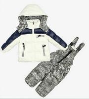 2014 New children boys winter clothing sets kids thicken warm Down ski garments snowsuits hooded outerwear + overalls set 129B