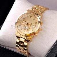 Relogio Feminino 2015 Fashion Watch Gold Color Kors Watches Men Luxury Brand Steel Wristwatches Watch Women