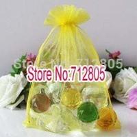 Wholesale 100pcs/lot 30x40cm Lemon yellow Large Organza Bag Organza Pouch Jewelry Gift Bags Free Shipping