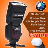 Triopo TR-586EX C Wireless TTL Flash Speedlite for Canon EOS 5D Mark II 5D3 7D 6D 70D 650D 5DIII 5D II 60D as YONGNUO YN565EX II