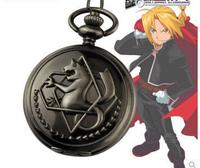 New silver tone Fullmetal Alchemist Pocket Watch Cosplay Edward Elric Anime Gift 10pcs/lot