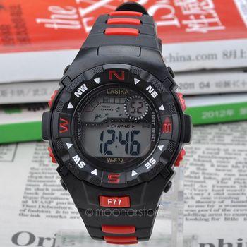 Мужчины спортивные часы 30 м водонепроницаемый мода свободного покроя кварцевые часы цифровой из светодиодов военный многофункциональный наручные часы Y60 * MHM352 # m5