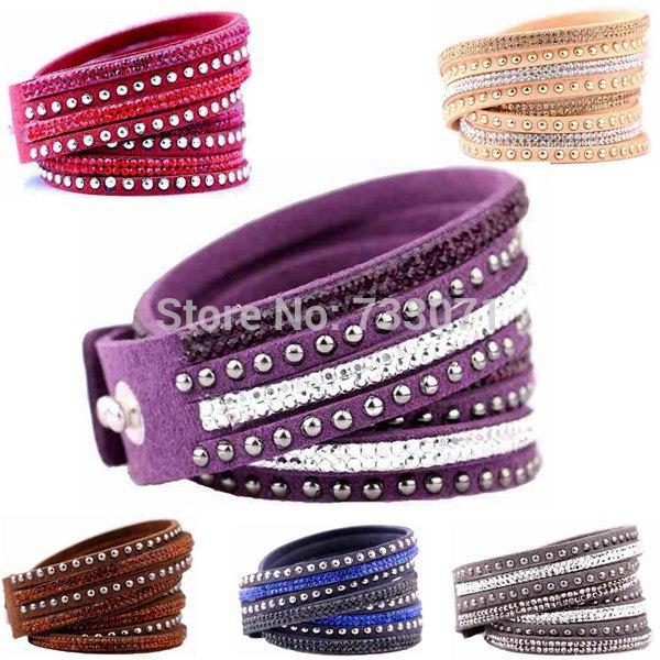 Fashion Bracelet Bangles Vintage Rectangle Leather Bracelet Multilayer Bracelets Hot Bracelets(China (Mainland))