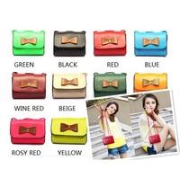 2015 Trench Cute Bow Handbag Small Cross-Body Bag Mini Candy Colored Clutch Bag Messenger Bag GB55