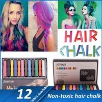 1set Non-toxic Temporary Hair Dye Salon 12 Colors Hair Chalk Color Dye Hair Extension Pastel Chalk FREE SHIPPING